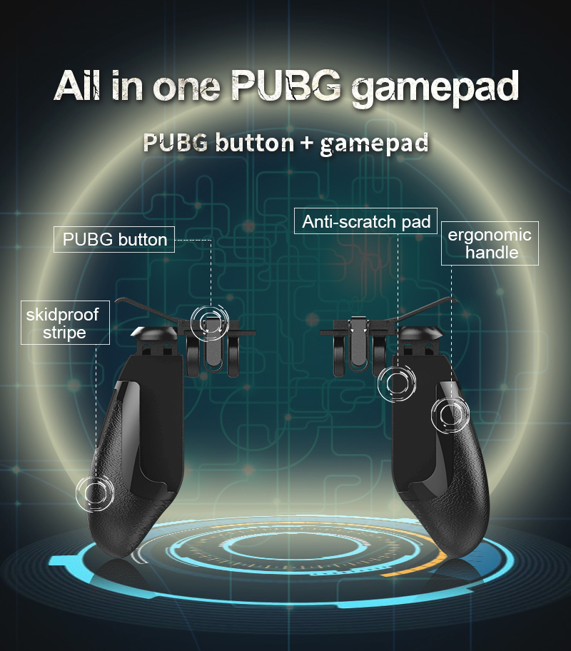 Promotional ergonomic joystick & game controller no battery no wireless suit for all game with aided  joy stick,comfort holding
