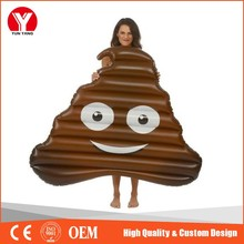 2016 hot customized giant / adult inflatable chocolate poop pool float