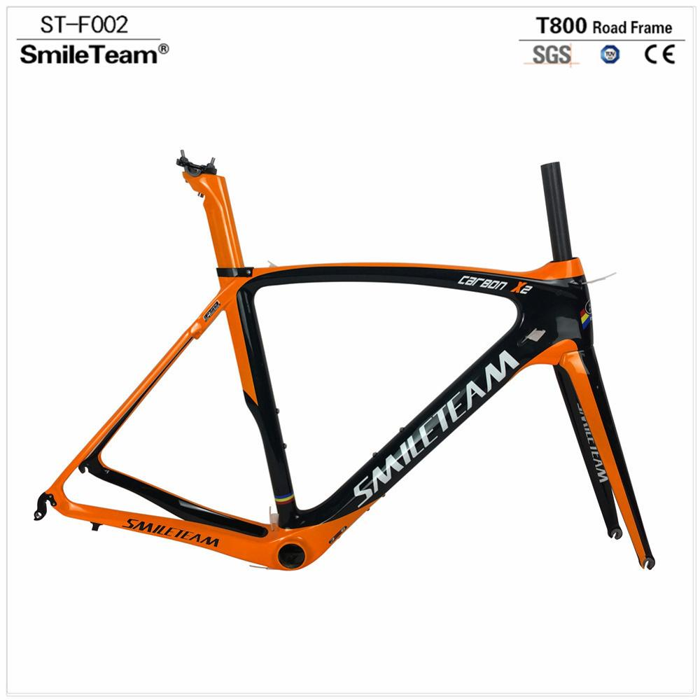 Hot-selling 700C light Bike Frame, Full Carbon Fiber Frame T800 Bicycle Frames From China