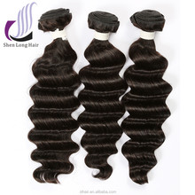 Wholesale price Brazilian loose deep wave hair weave