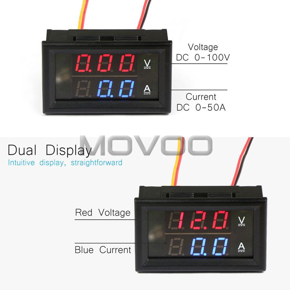 Wholesale 2in1 Digital Voltmeter Ammeter Dc 0 100v 50a