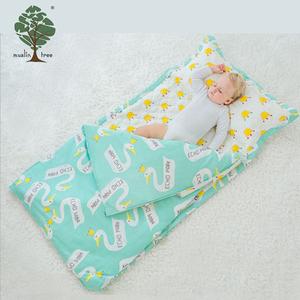 Muslin tree luxury 3 pieces baby pillowcase bedding 100% cotton baby bedding set