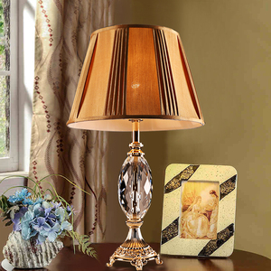 XingJun LED E27 Hotel or decorative crystal metal reading lamp table / table lamp cover