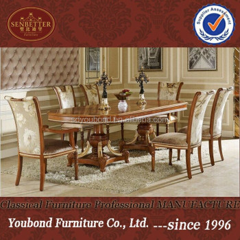 0062 European Classic Dining Room Furniture High End Wood Table