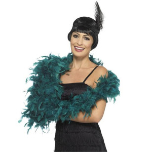 Deluxe Teal turkey feather boa 40-80g each 2 yards