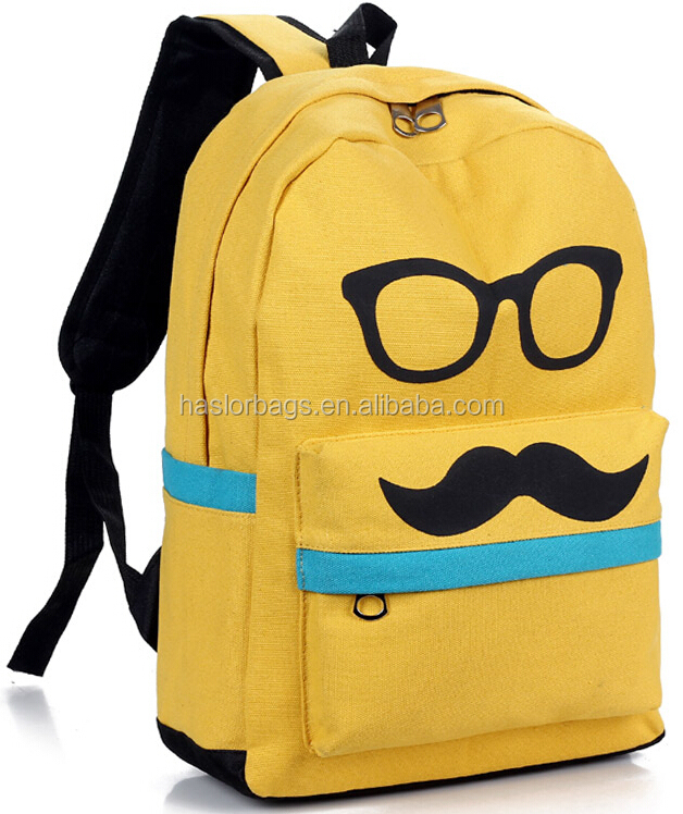 Cute Glasses Printing Stylish College Bag /college Bags For Girls ...