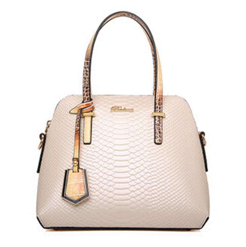 c624931419 Get Quotations · Luxury Tote Bag 2015 Fashion Top Brand Bolsas Femininas  Shoulder Snakeskin Dress Women Leather Handbags Quality