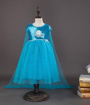 74e49ac7019c48f Платья для девочек высокого качества детская одежда принцессы карнавальный  костюм Анны и Эльзы детское вечерние платье