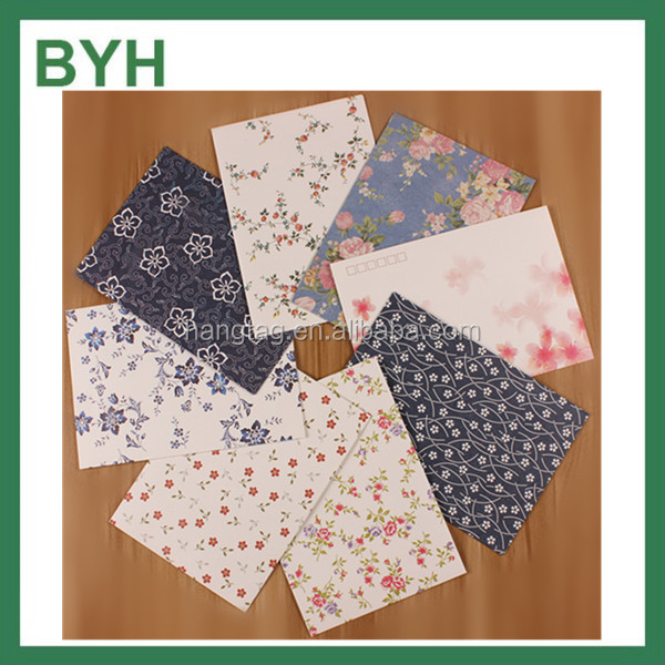 B6 175x125mm Flowers Colorful Gift Fashion Envelope for Card