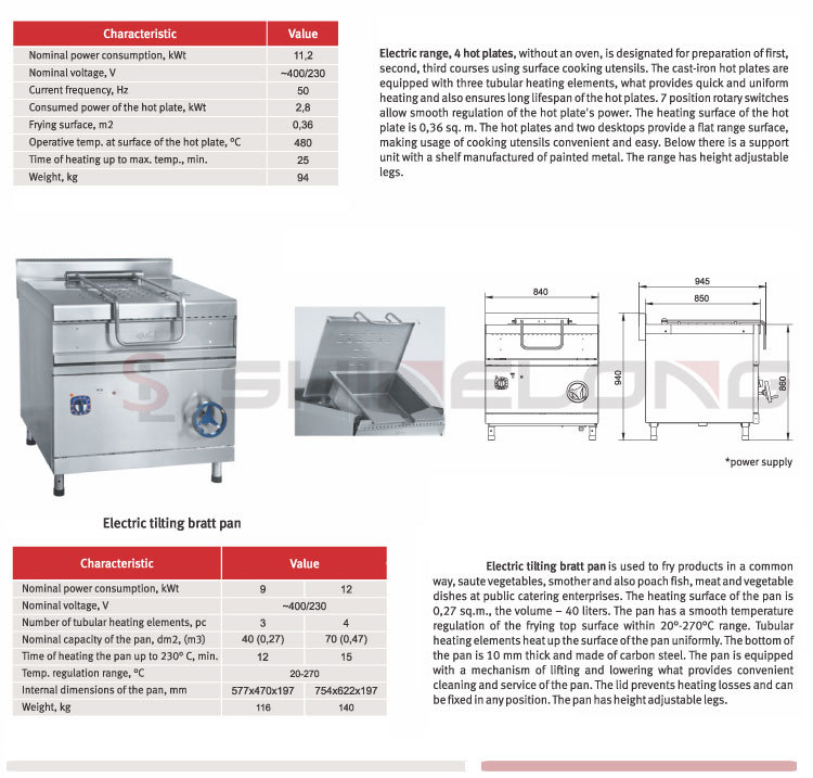 FURNOTEL Cooking Range Brands Discover the New Commercial Western Food Restaurant Kitchen Equipment