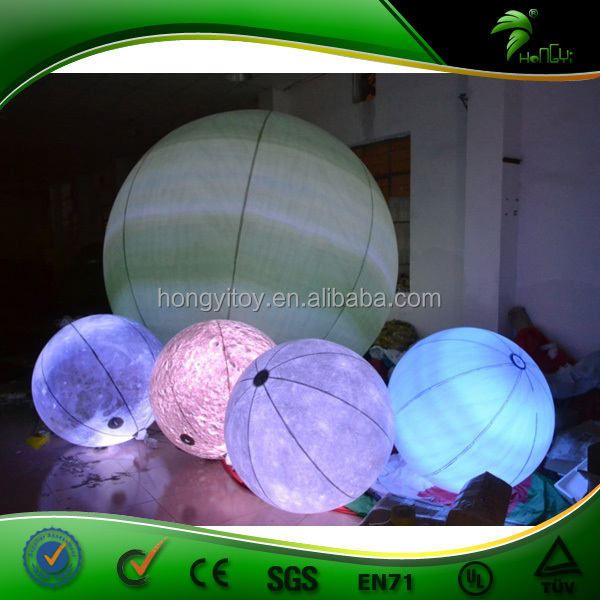Competitive Price Pretty Decoration Inflatable LED Ball/Solar LED Ball Light Outdoor/Pretty Large LED Planet Balloons for Sale