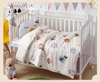 China Supplier 100% Cotton Printing Kids Bedding Set/Cartoon Baby Crib Bed Sheets