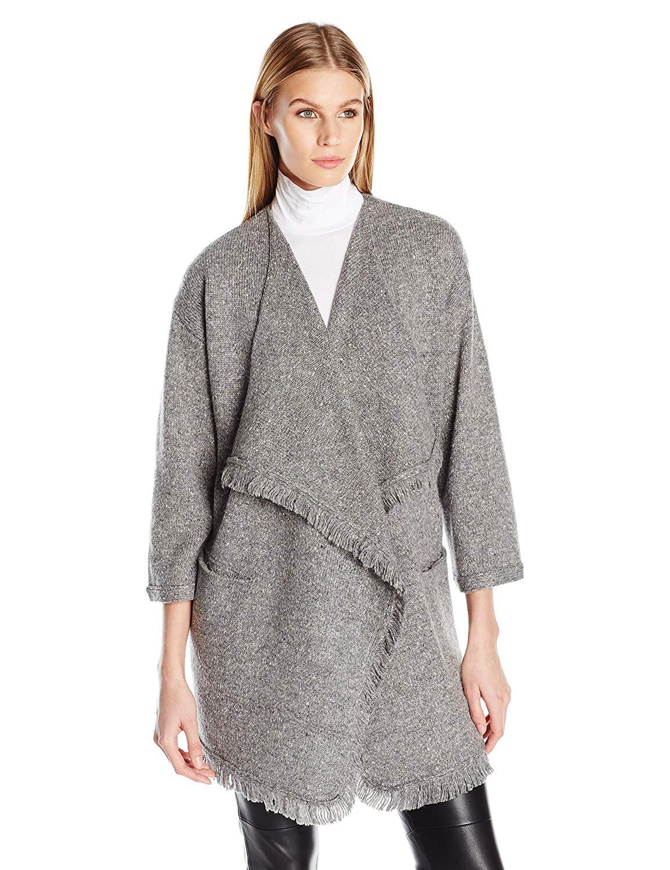 0c77dadd98 Joie Women s Farid Tweed Novelty-Stitch Sweater Jacket