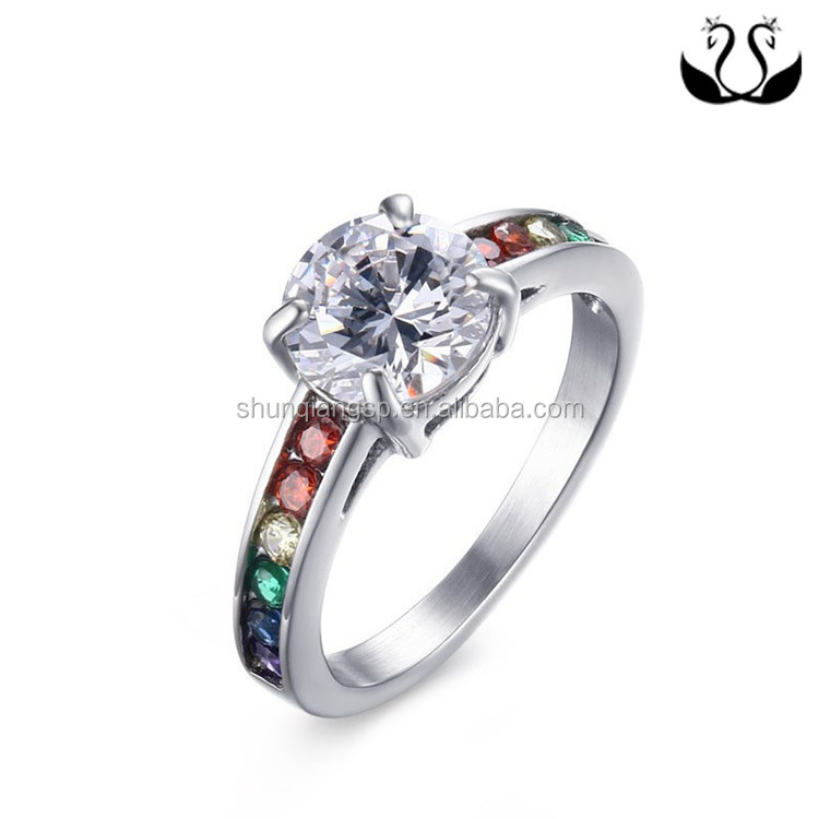 High End Gay Men Engagement Wedding Diamond Ring