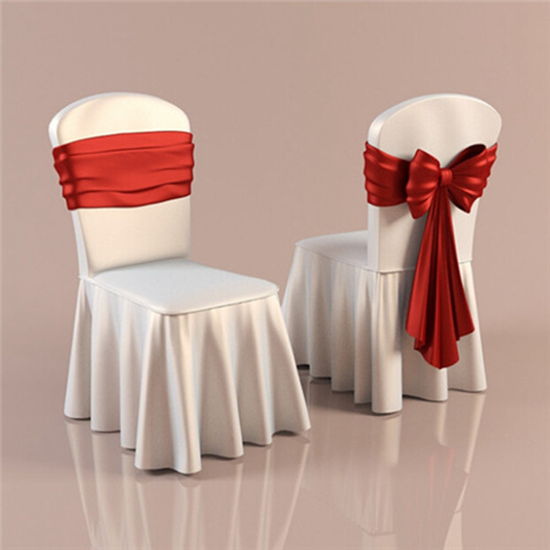 50pcs High Quality Polyester Spaining Skirt Chair Covers