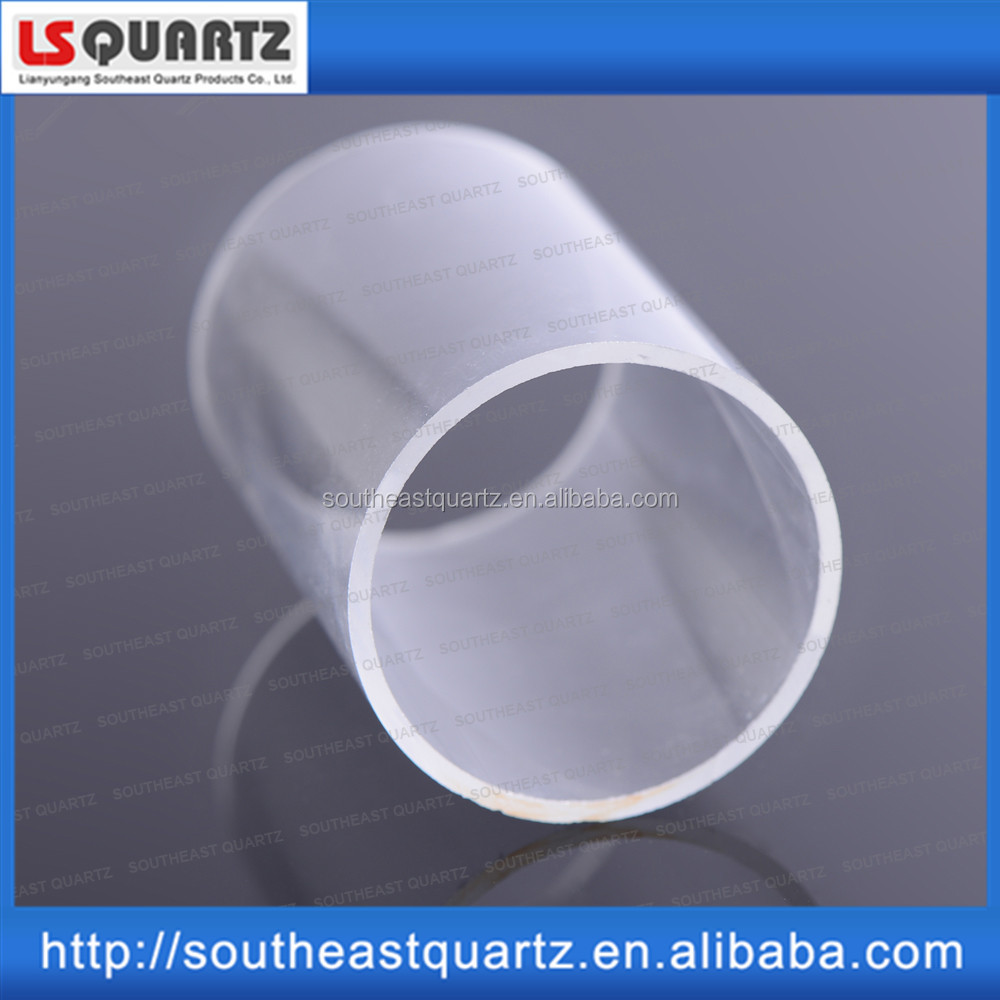 High quality polished half quartz glass tube