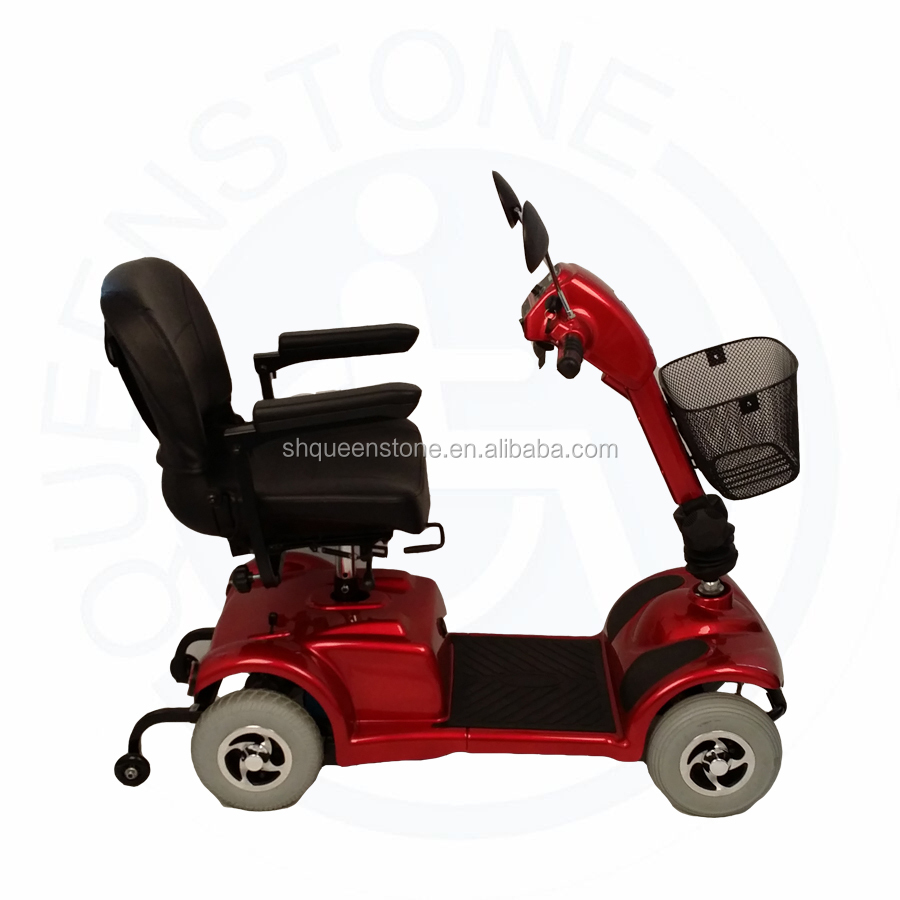 Lithium battery mobility four wheels electric scooter for Motorized scooters for the elderly