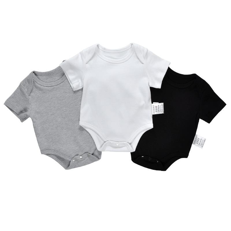 Toddler Baby Clothing Bamboo Cotton Plain White Newborn