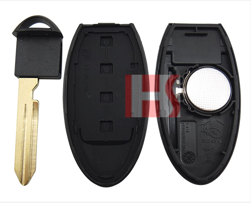 Best quality car 4 button key intelligent remote control key for 2014 Nissa Tean 0210311-1