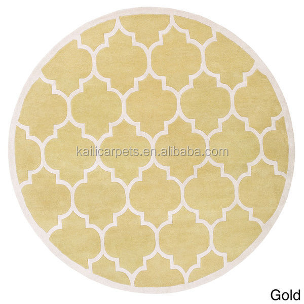 3.6' Round Hand-Tufted Wool Area Rug