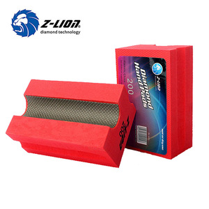 Diamond hand sanding block sponge for granite marble quartzite grinding