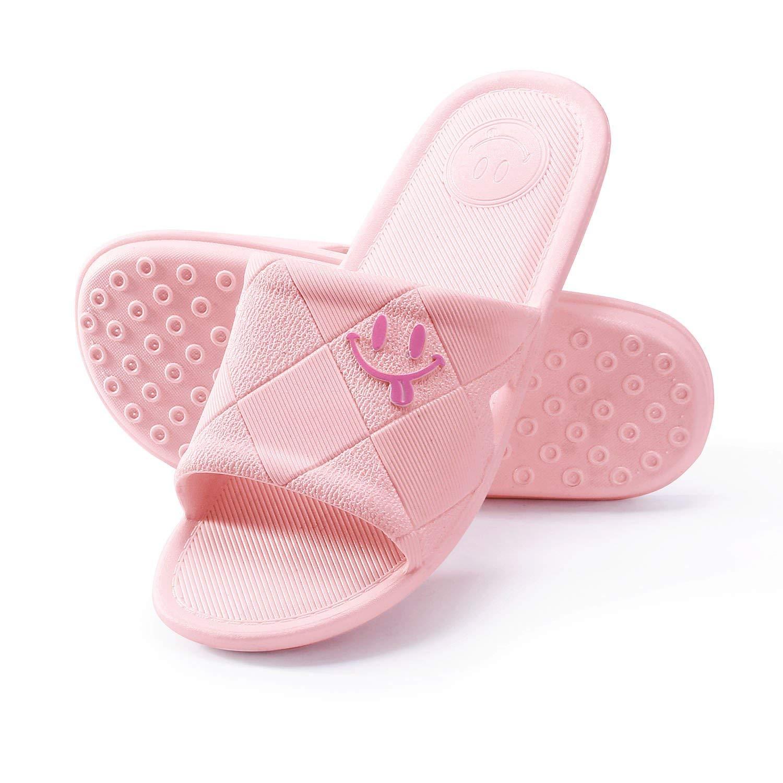 WILLIAM&KATE Summer Bath Slippers Women Men Shower House Anti-Slip Indoor Outdoor Open Toe Bathroom Sandals Couples