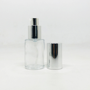 cosmetic 20ml 30ml 50ml round cylindrical shape frosted lotion glass bottle foundation serum bottle