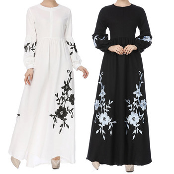 Long Maxi Dress Vintage Dresses Kaftan dubai Islamic clothing abayas for women Womens Muslim Chiffon Long Sleeve