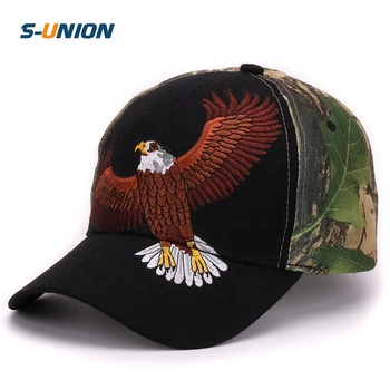 9ef4a00e92af6 6 paneles woodland camo gorra de béisbol animal águila bordado de caballo  deportes camuflaje al aire