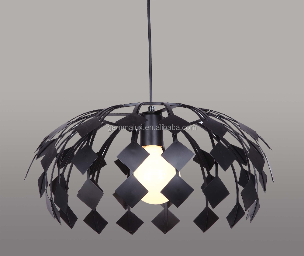 Design Iron Cage Lamp Pendant light leaf shaped