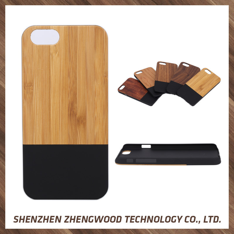 Top Quality real wood bamboo case wood blu cell phones