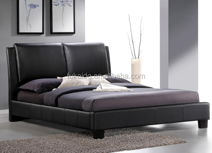 new Modern Pu Leather queen size single beds in Dongguan