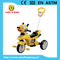 SIMPLE CHILDREN TRICYCLE WITH LOVELY SPACE DOG RIDE ON CAR WITH PUSH BAR AND MUSICAL.