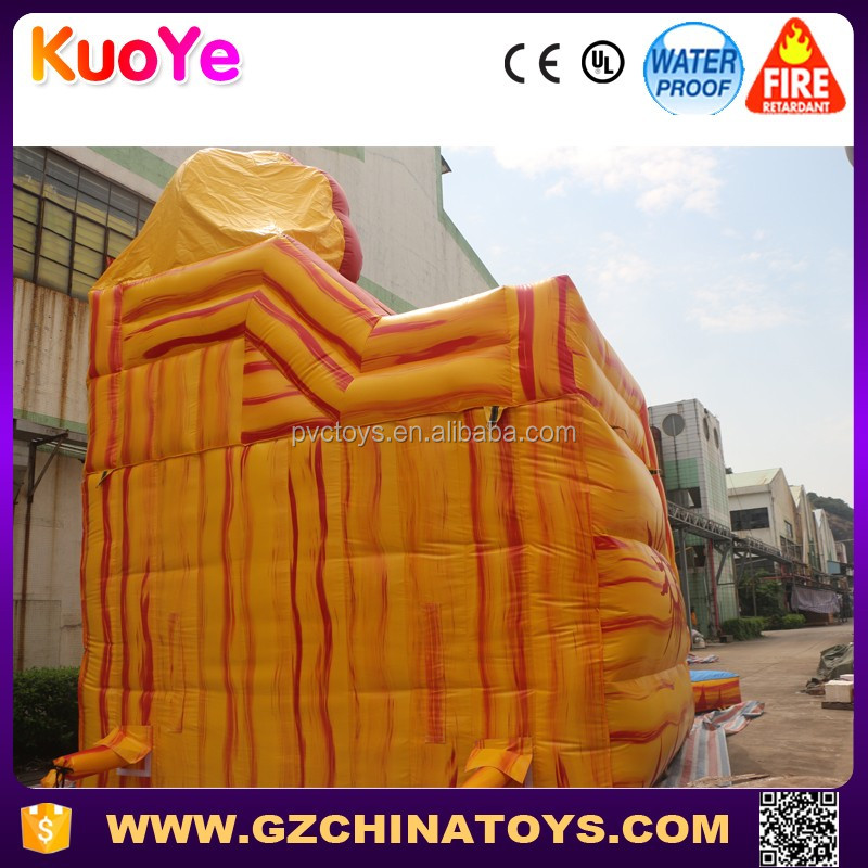 2016 high quality best price inflatable adult water slides china with pool for party and events