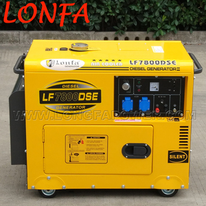 Diesel generator 6kva portable standby power genset for outdoor works use