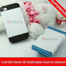 DIY Card Slot Series 3D sublimation phone case for Iphone 4/4s
