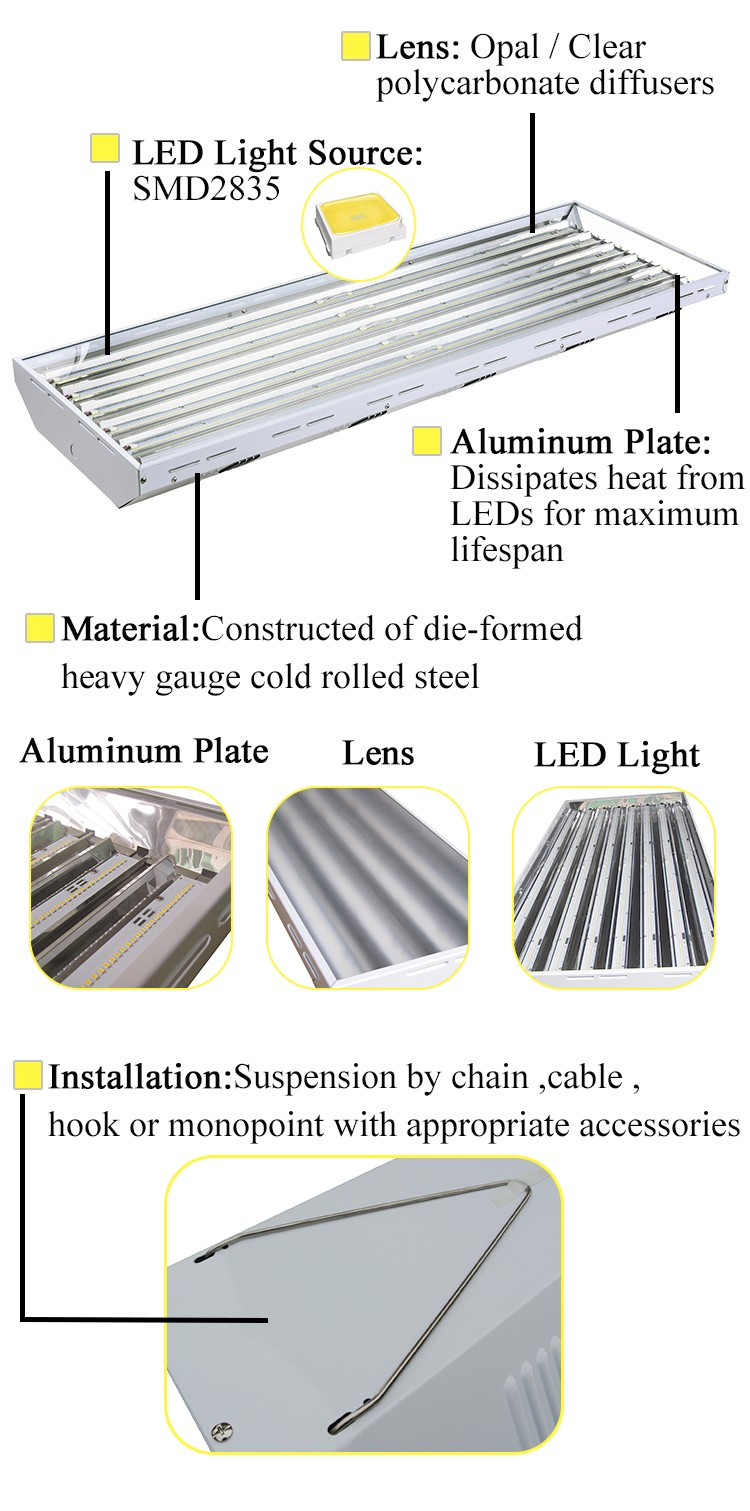 Ul Saa High Quality Damp Proof Suspended Warehouse Led Low Bay ...