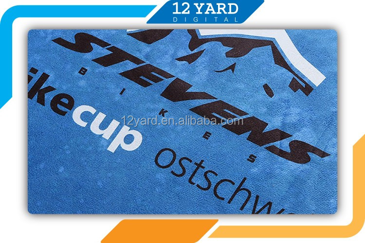 Custom Promotional Velour Reactive Sublimation print Beach Towel