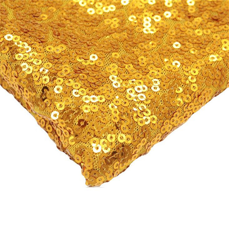 Wholesale 3mm high density embroidery glitter fabric sequin <strong>material</strong> for tablecloth