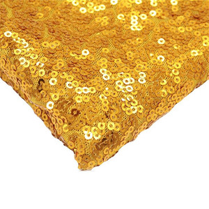 Wholesale 3mm high density embroidery glitter fabric sequin material for tablecloth