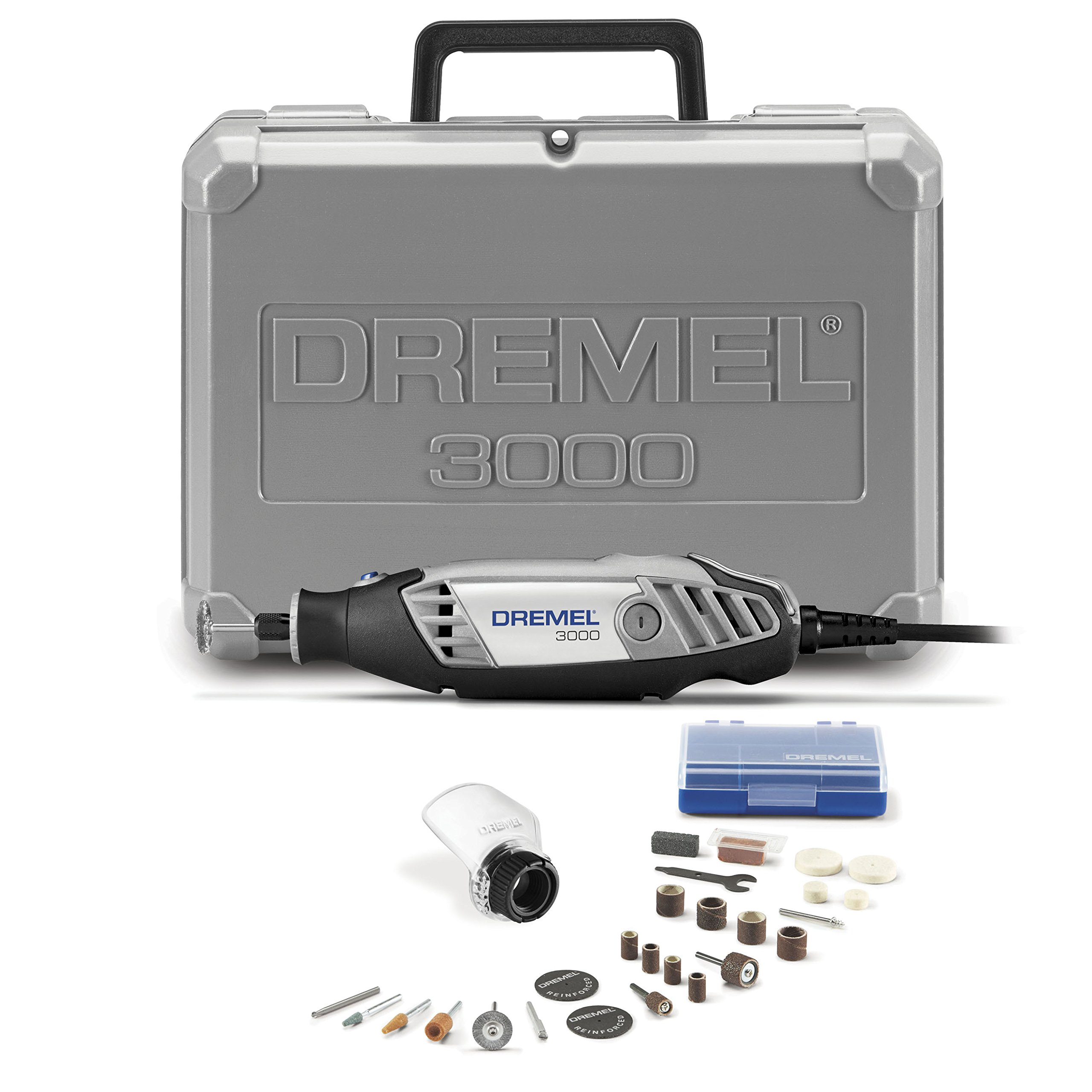 Dremel 3000-1/25 120-volt Variable Speed Rotary Tool Kit with 1 Attachment and 25 Accessories