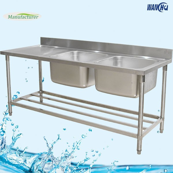 stainless steel commercial kitchen sink table with drainboardaustralia kitchen sink bench china supplier - Kitchen Sink Supplier