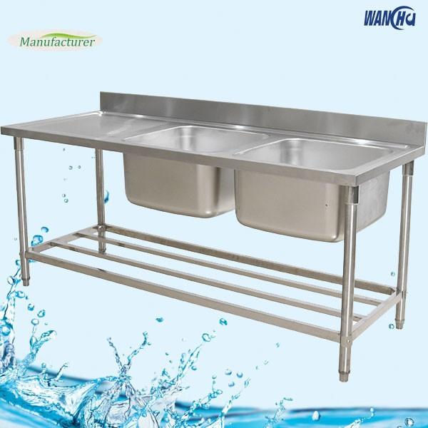 stainless steel commercial kitchen sink table with drainboardaustralia kitchen sink bench china supplier - Kitchen Sink Supplier