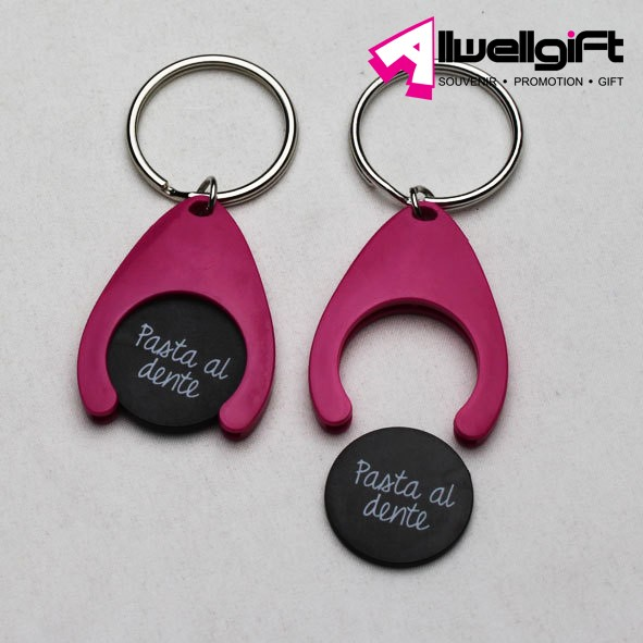 Trolley Token Coin Keychain,trolley cart chip keychain with oem logo