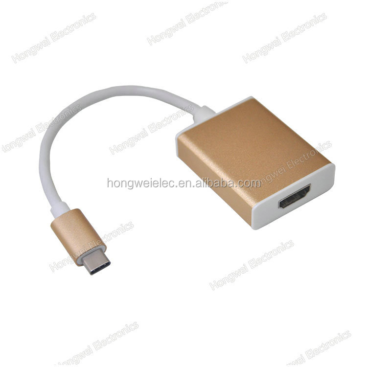 130mm long UL cable USB3.1 Type C to VGA Adapter