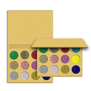 In Stock 12 Colors Private Design Glitter Eyeshadow Palette Good Color and Powder