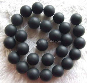 8mm round matte or called frosted black agate beads DIY semi precious stone