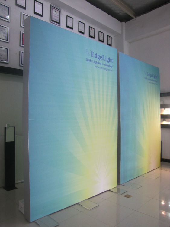 EdgeLight AF47 Hot sale Indoor And Outdoor LED illuminated Backlit Frameless lamp cases Advertising Textile led Light Boxes