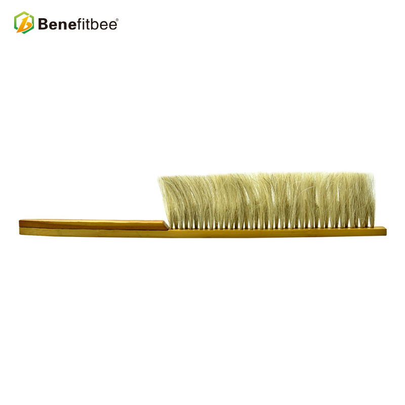 Profession OEM ODM Durable Double Rows Horsehair Bee Brush Beekeeping