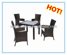 italian dining set outdoor table in synthetic rattan